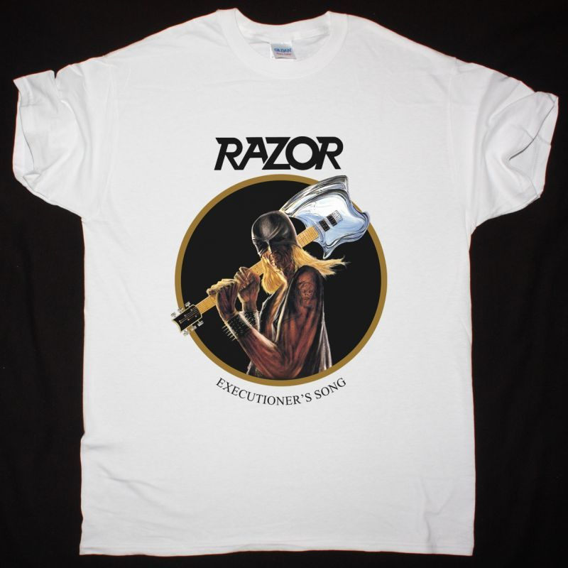 RAZOR EXECUTIONER'S SONG WHITE NEW WHITE T SHIRT