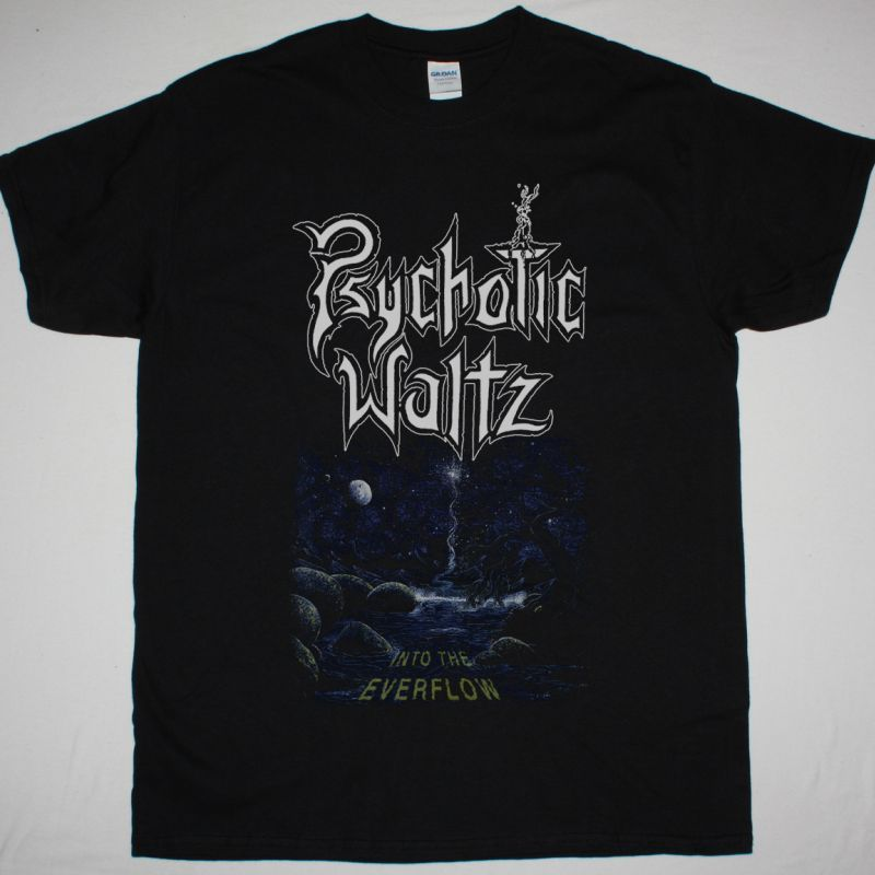 PSYCHOTIC WALTZ INTO THE EVERFLOW 1992 NEW BLACK T SHIRT