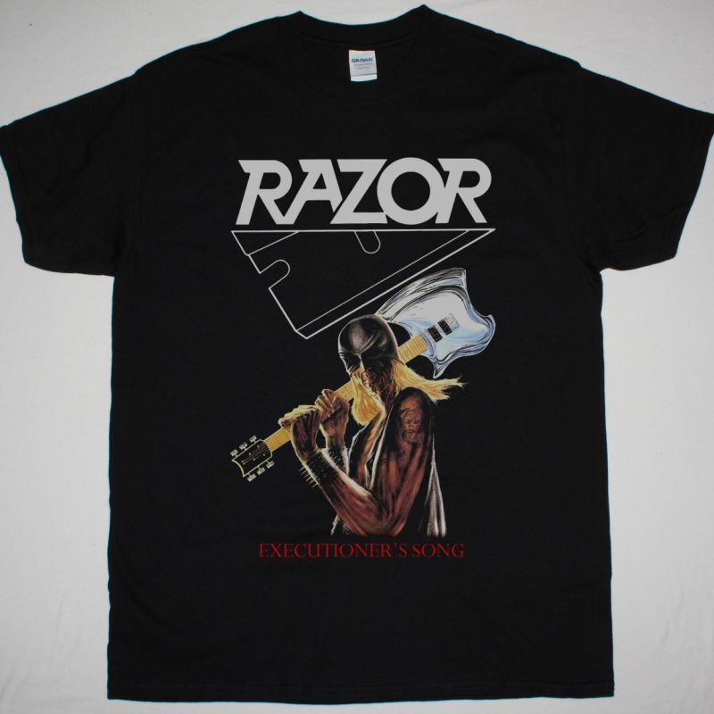 RAZOR EXECUTIONER'S SONG NEW BLACK T SHIRT