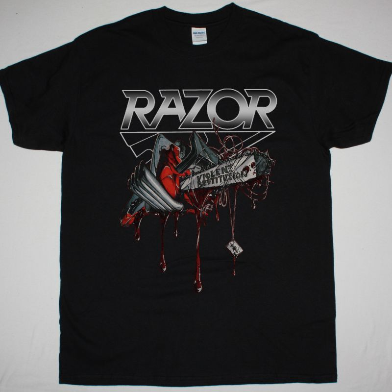 RAZOR VIOLENT RESTITUTION NEW BLACK T SHIRT