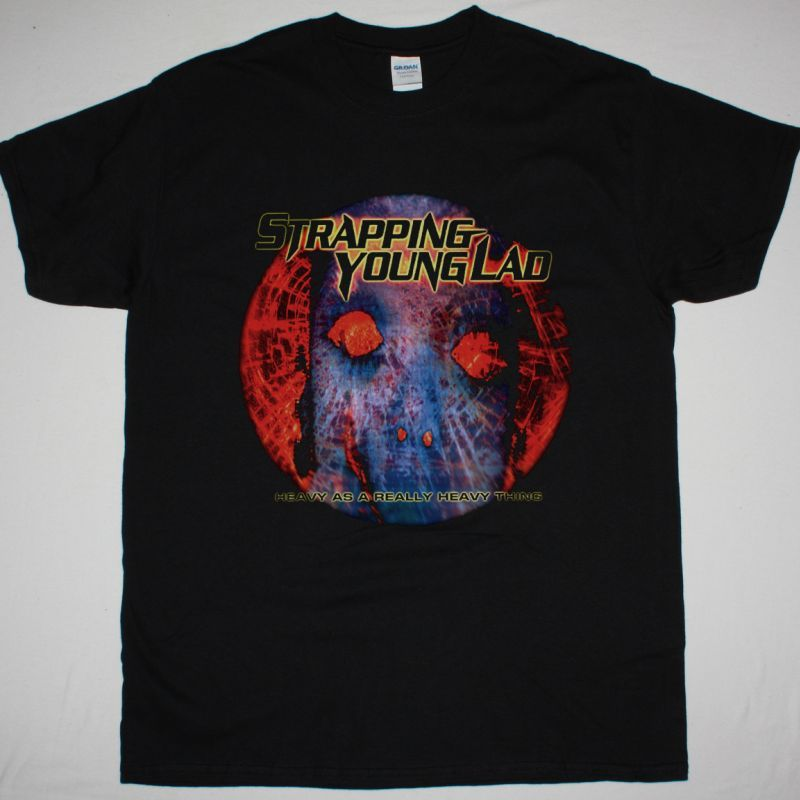 STRAPPING YOUNG LAD HEAVY AS A REALLY HEAVY THING NEW BLACK T-SHIRT