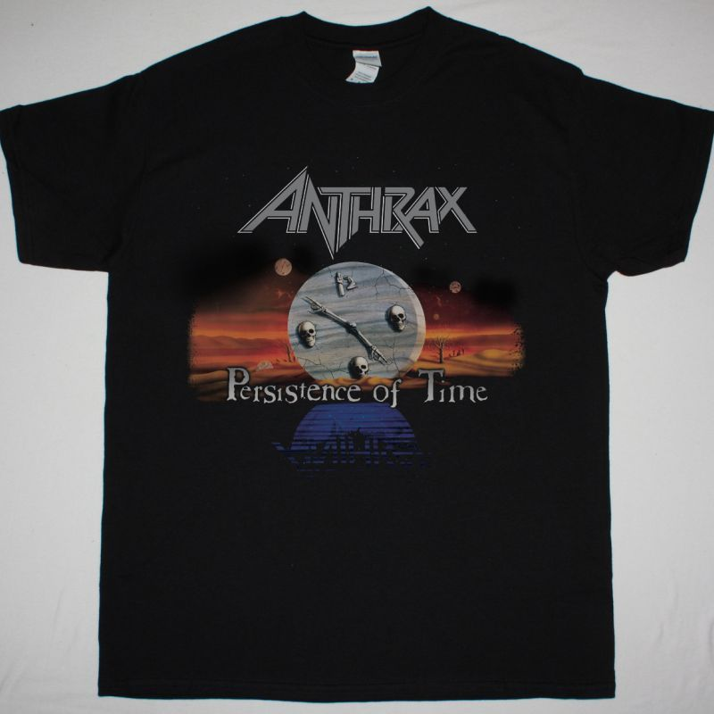 ANTHRAX PERSISTANCE OF TIME NEW BLACK T-SHIRT