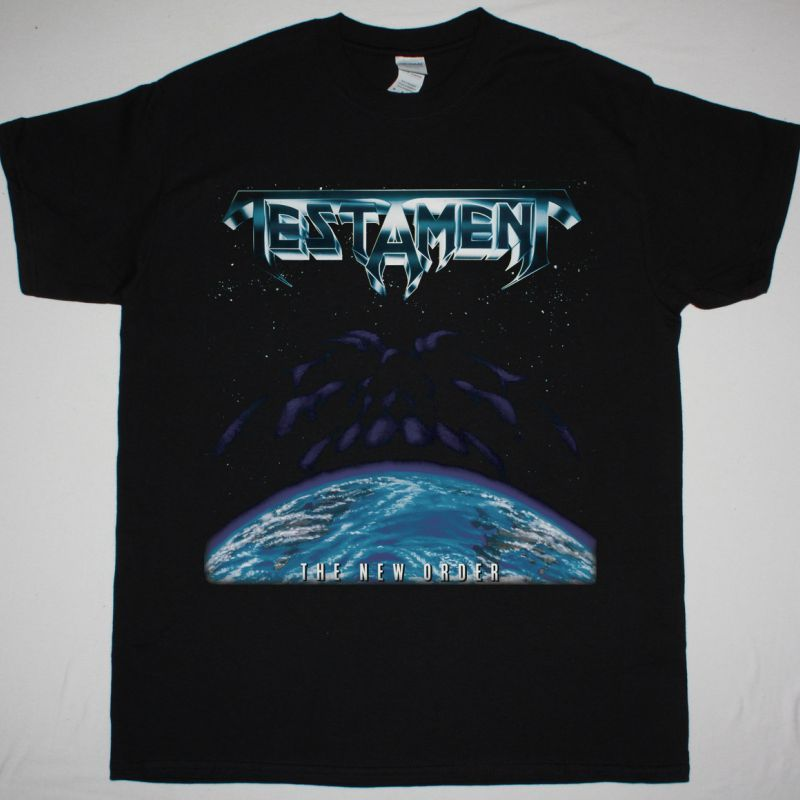 TESTAMENT THE NEW ORDER 1988  NEW BLACK T-SHIRT