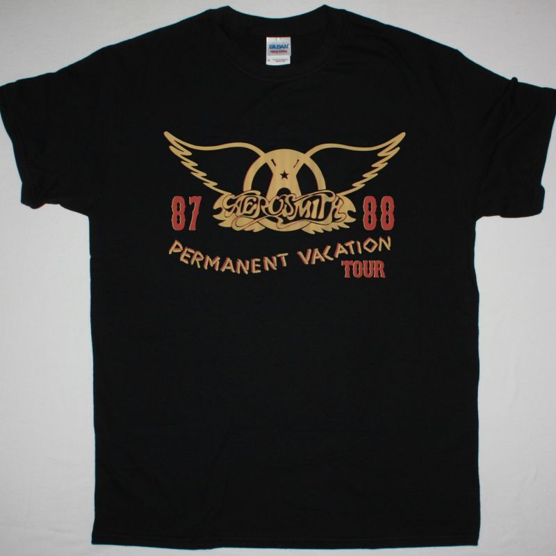 AEROSMITH PERMANENT VACATION TOUR NEW BLACK TSHIRT