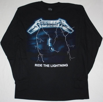 METALLICA RIDE THE LIGHTNING'84 S-XXL LONG SLEEVE T-SHIRT