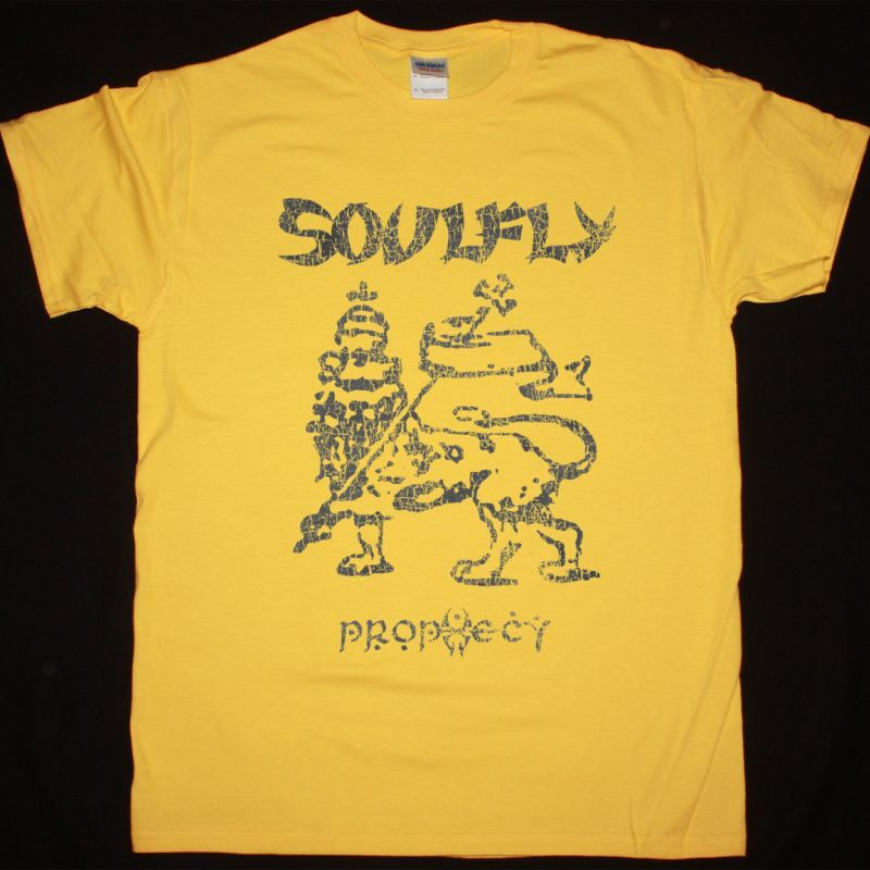 SOULFLY PROPHECY NEW YELLOW T SHIRT