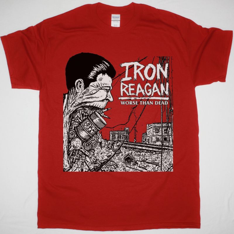 IRON REAGAN WORSE THAN DEAD NEW RED T-SHIRT