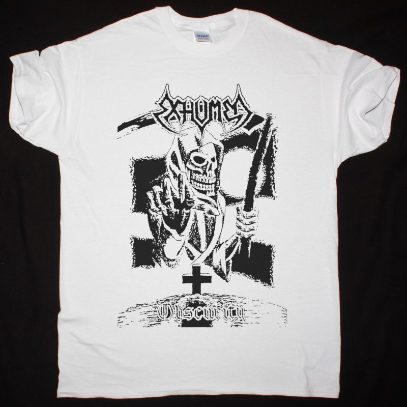 EXHUMED OBSCURITY DEMO 1990 NEW WHITE T-SHIRT