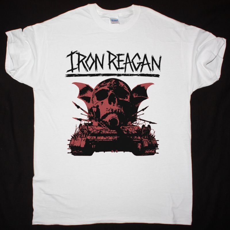 IRON REAGAN WARNING NEW WHITE T-SHIRT