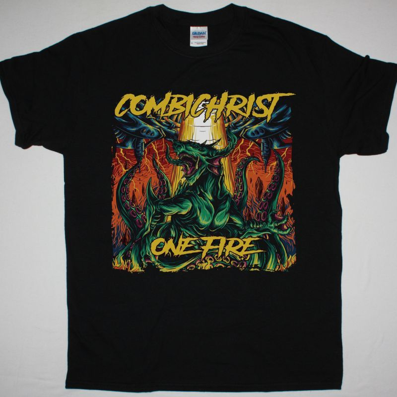 COMBICHRIST ONE FIRE NEW BLACK T-SHIRT