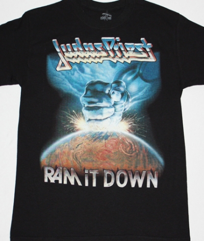 JUDAS PRIEST RAM IT DOWN'88 NEW BLACK T-SHIRT