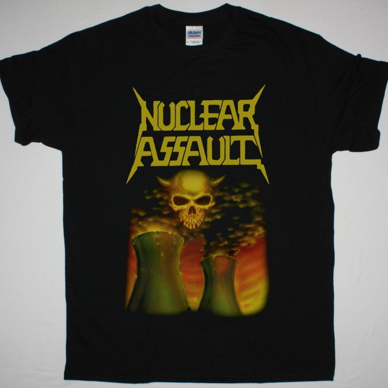 NUCLEAR ASSAULT SURVIVE NEW BLACK T SHIRT