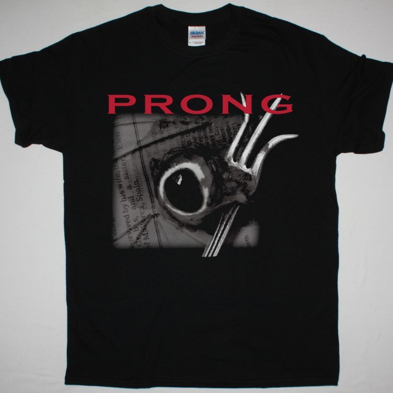PRONG CLEANSING NEW BLACK T SHIRT