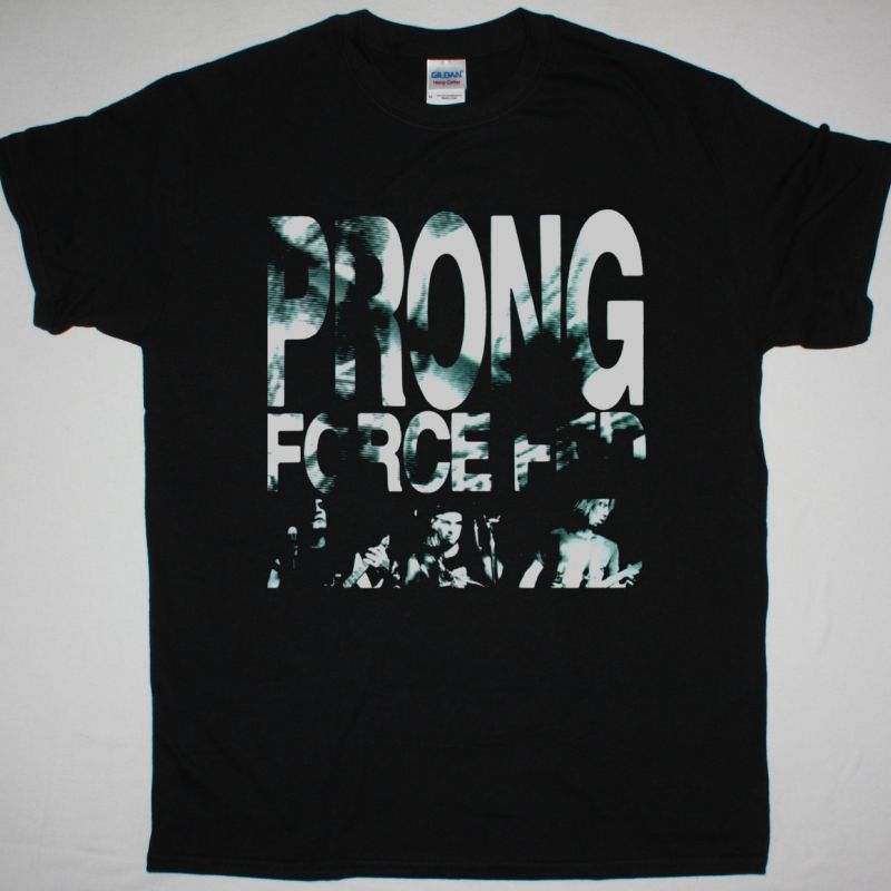 PRONG FORCE RED 1989 NEW BLACK T SHIRT