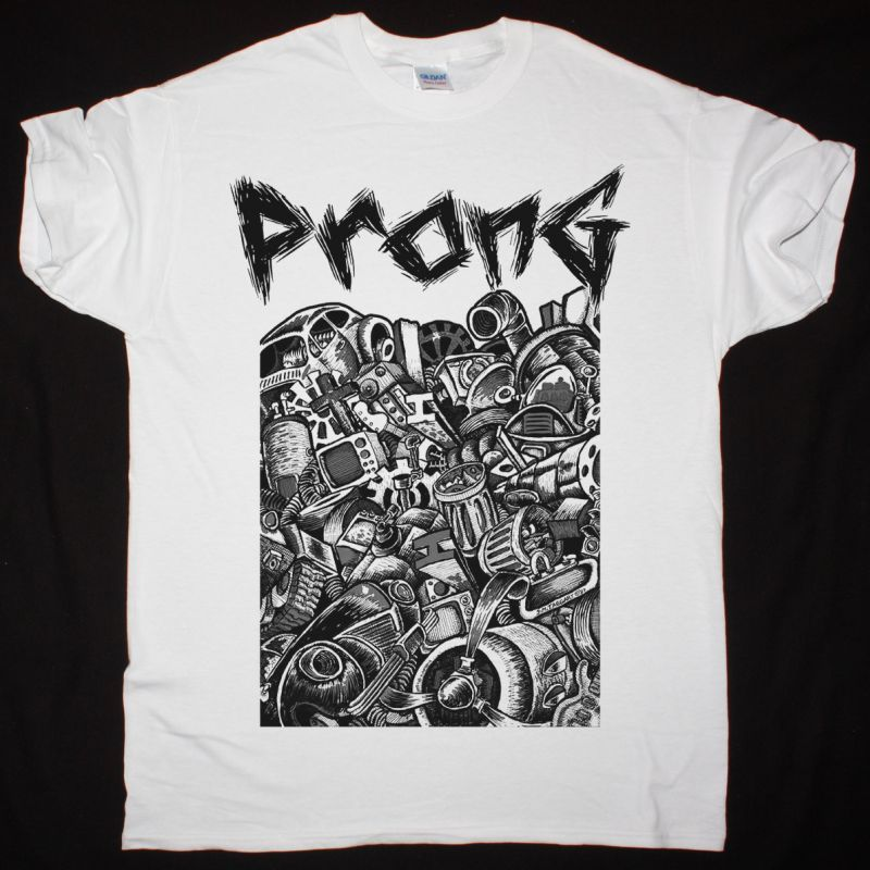 PRONG PRIMITIVE ORIGINS 1987 NEW WHITE T SHIRT