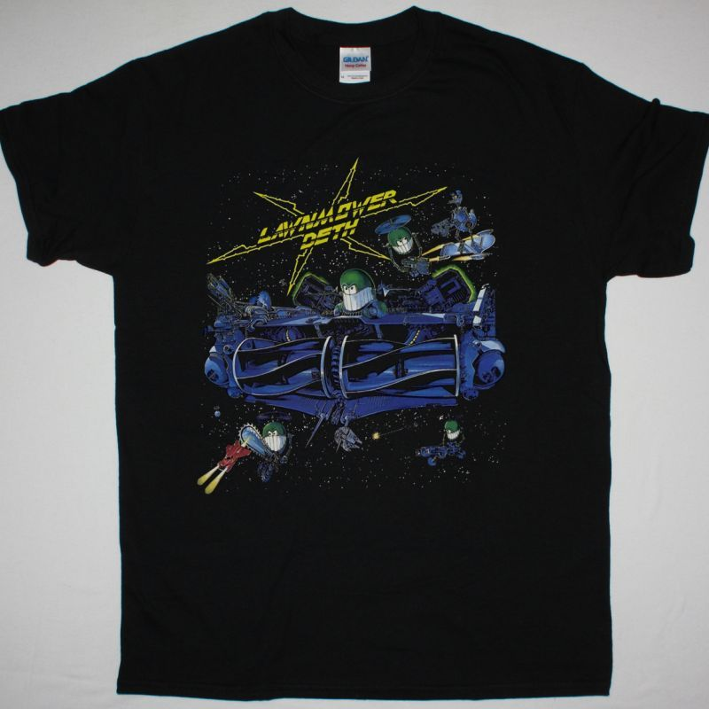 LAWNMOWER DETH OOH CRIKEY IT'S... LAWNMOWER DETH NEW BLACK T SHIRT