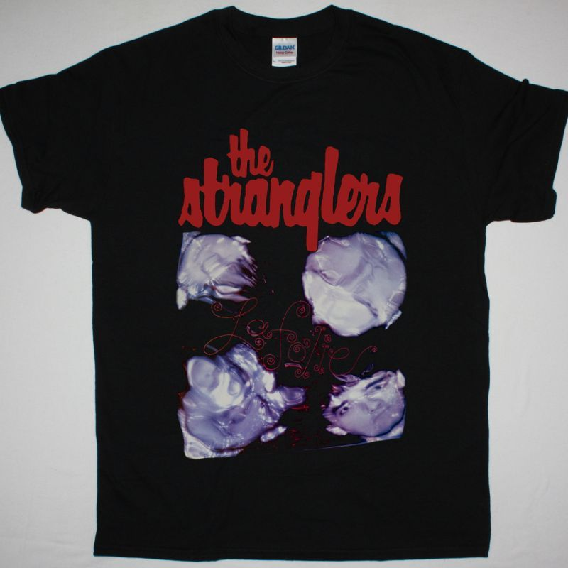 THE STRANGLERS LA FOLIE 1981 NEW BLACK T-SHIRT
