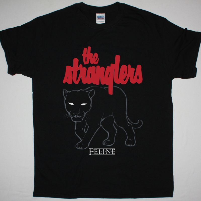 THE STRANGLERS FELINE TOUR 1983 NEW BLACK T-SHIRT