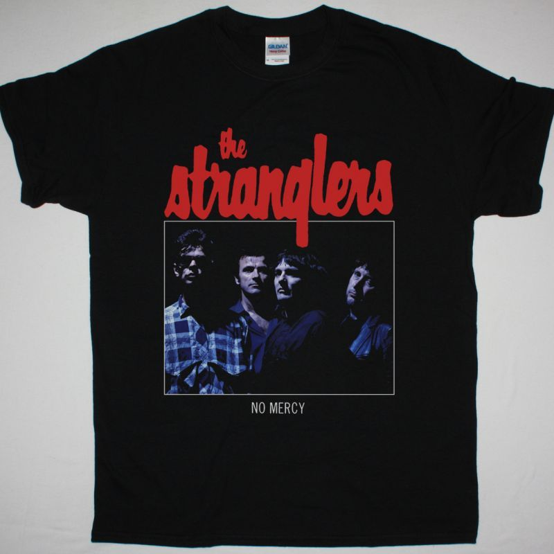THE STRANGLERS NO MERSY 1984 EP NEW BLACK T-SHIRT