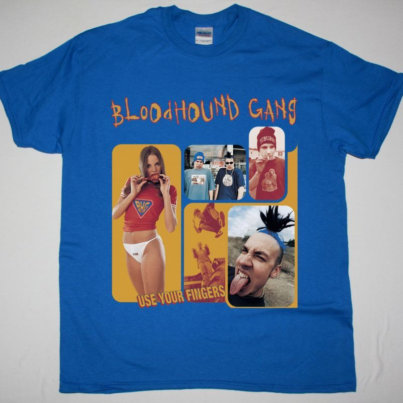 BLOODHOUND GANG USE YOUR FINGERS NEW BLUE T-SHIRT