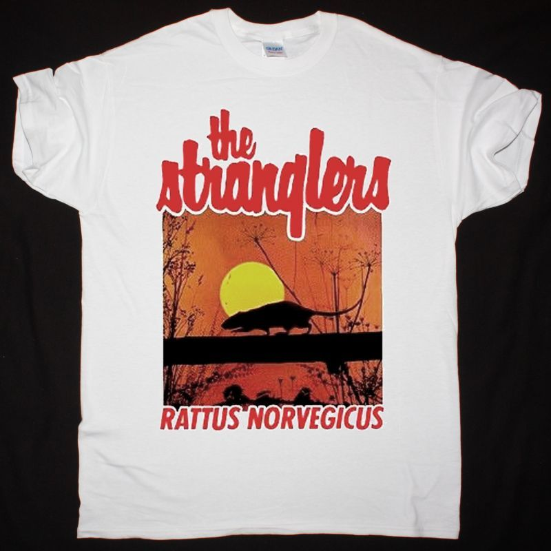 THE STRANGLERS RATUS NORVEIGICUS NEW WHITE T-SHIRT