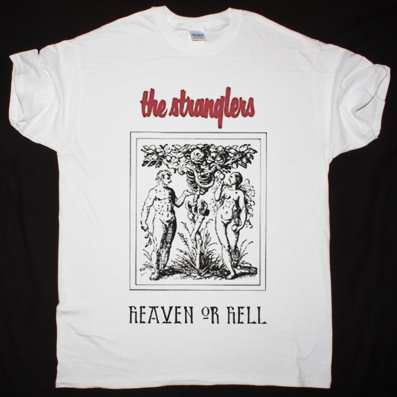 THE STRANGLERS HEAVEN OR HELL NEW WHITE T-SHIRT