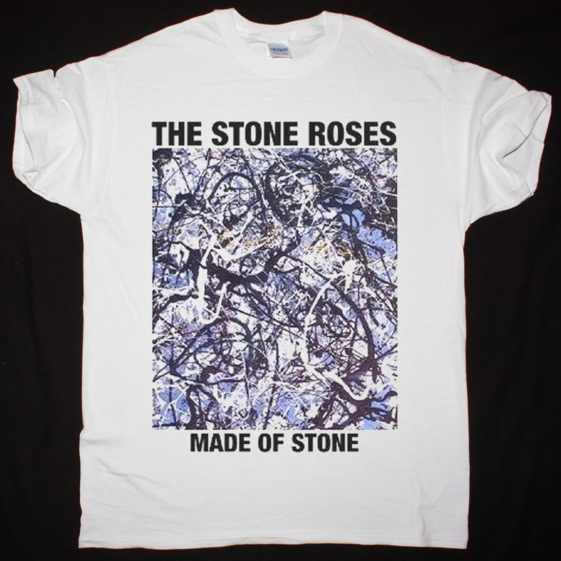 THE STONE ROSES MADE OF STONE NEW WHITE T-SHIRT