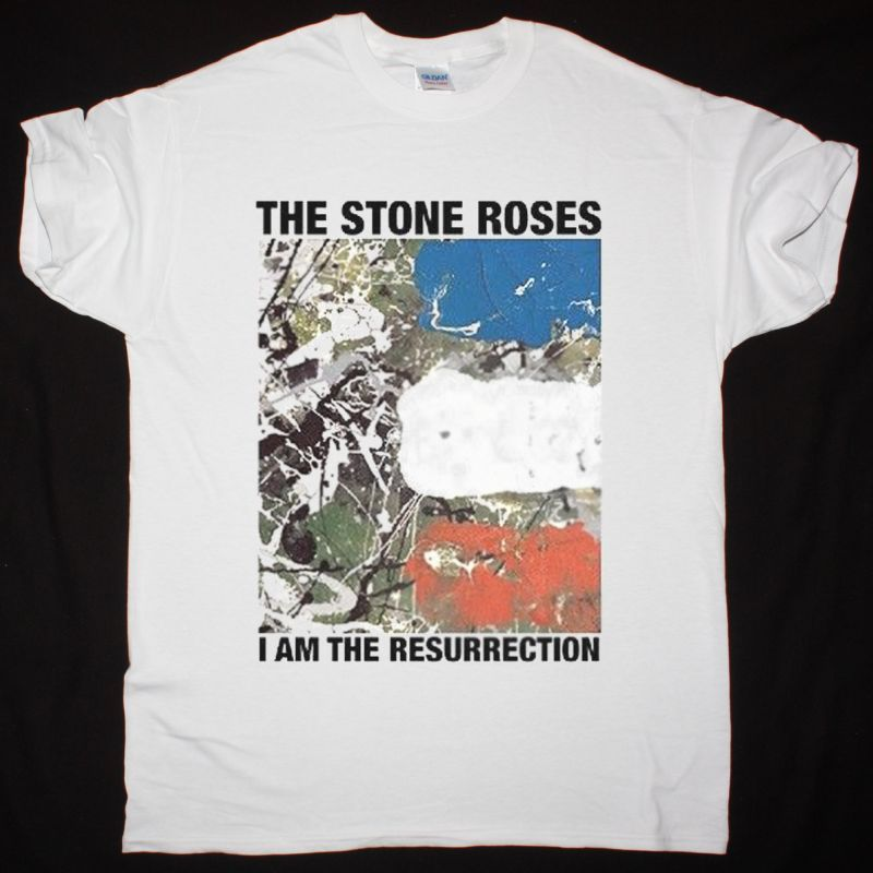 THE STONE ROSES I AM THE RESURRECTION NEW WHITE T-SHIRT
