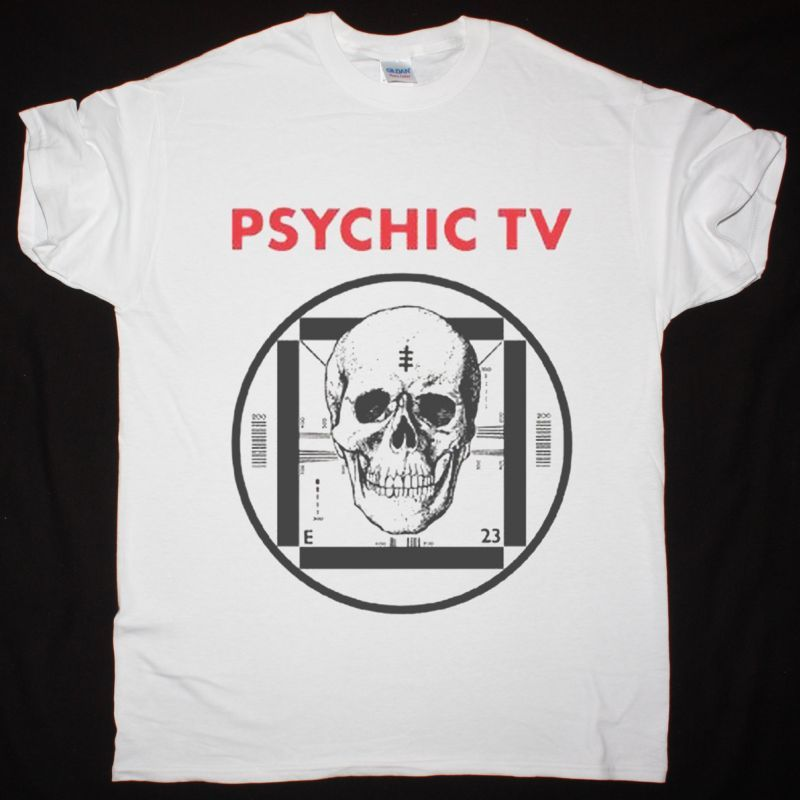 PSYCHIC TV FORCE THE HAND OF CHANCE NEW WHITE T-SHIRT