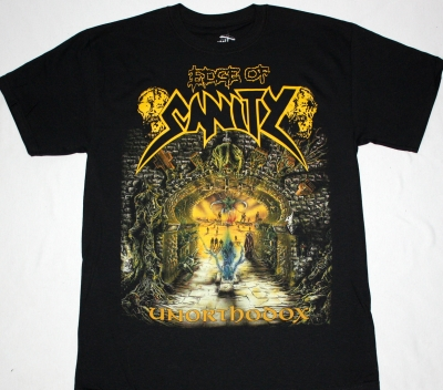 EDGE OF SANITY UNORTHODOX'92 NEW BLACK T-SHIRT