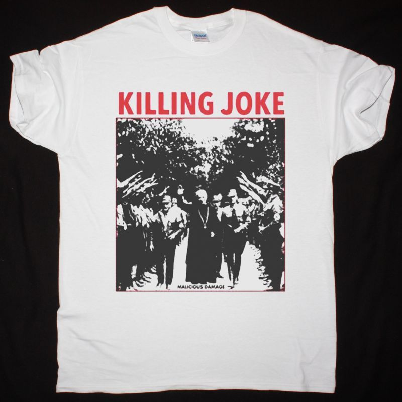 KILLING JOKE MALICIOUS DAMAGE NEW WHITE T-SHIRT