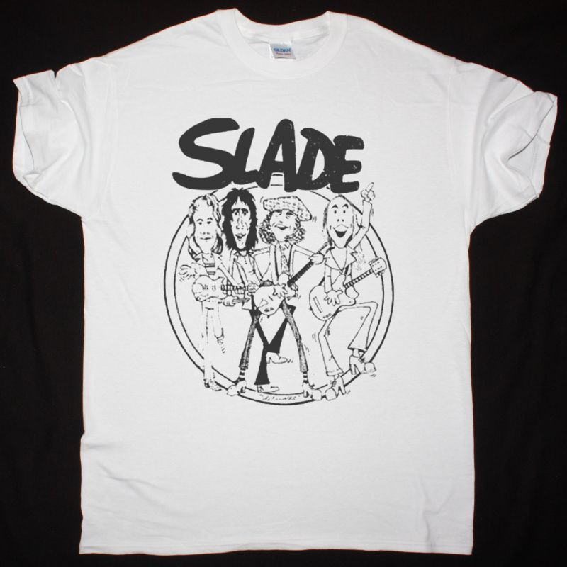SLADE BAND NEW WHITE T-SHIRT