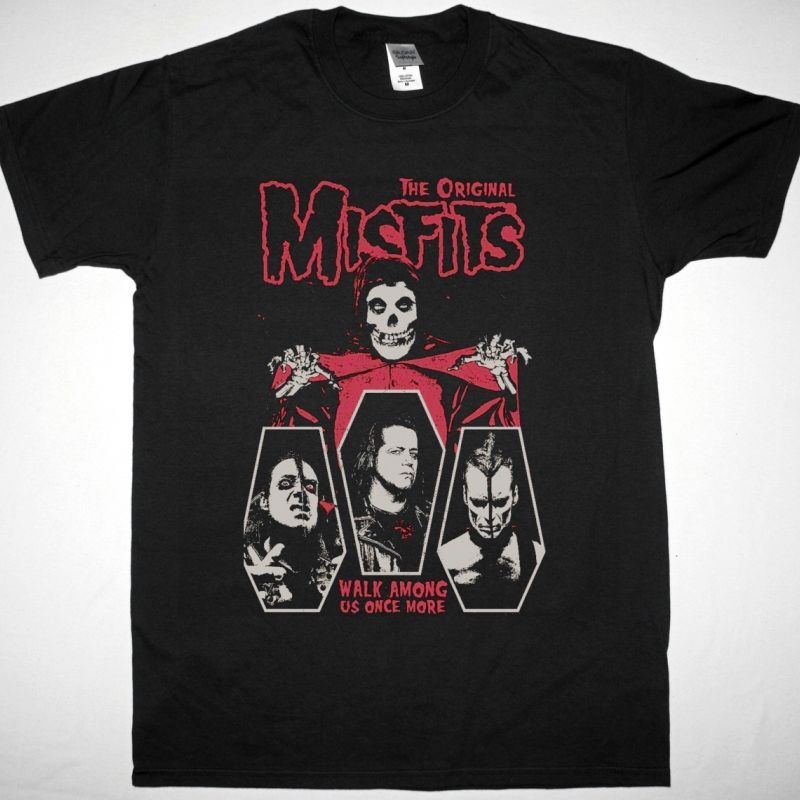 THE MISFITS WALK AMONG US ONCE MORE NEW BLACK T SHIRT