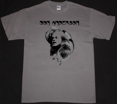JON ANDERSON YES NEW GREY CHARCOAL T-SHIRT
