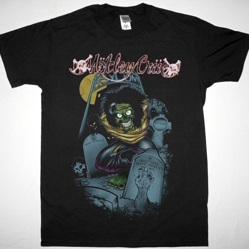 MOTLEY CRUE DR. FEELGOOD ASYLUM NEW BLACK T-SHIRT