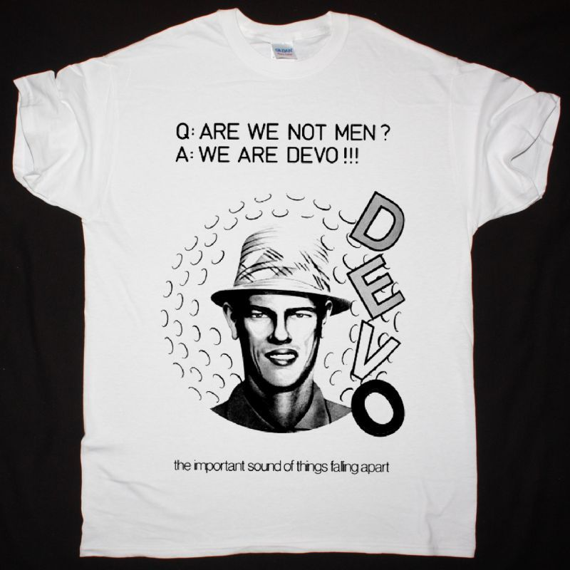 DEVO ARE WE NOT MEN NEW WHITE T SHIRT