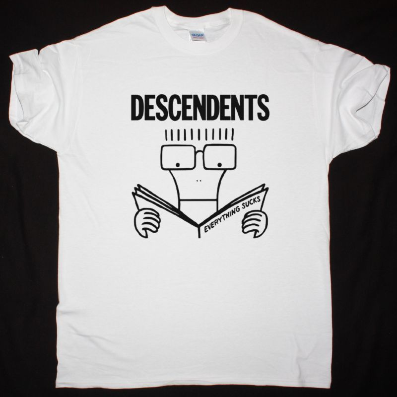 DESCENDENTS EVERYTHING SUCKS NEW WHITE T SHIRT