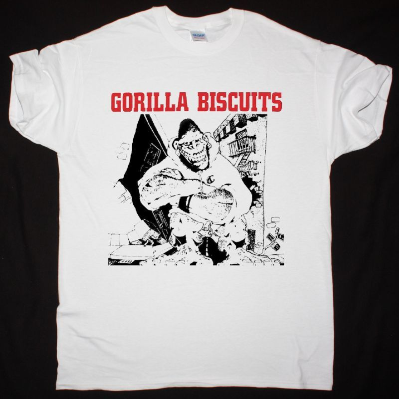 GORILLA BISCUITS GORILLA BISCUITS NEW WHITE T SHIRT