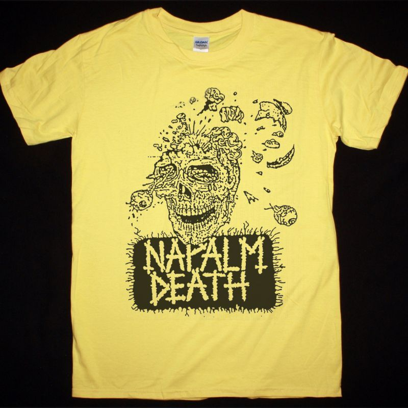 NAPALM DEATH HATRED SURGE NEW YELLOW T-SHIRT