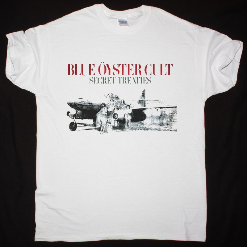 BLUE ÖYSTER CULT SECRET TREATIES NEW WHITE T SHIRT