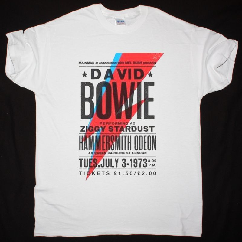 DAVID BOWIE HAMMERSMITH POSTER NEW WHITE T-SHIRT