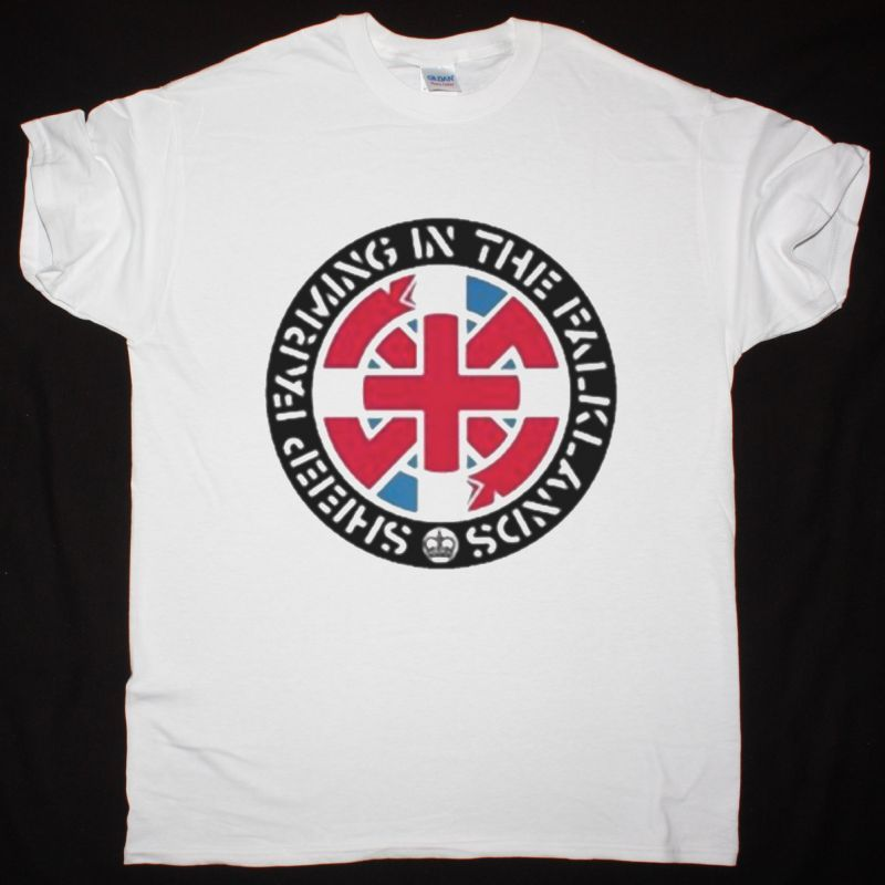 CRASS SHEEP FARMING IN THE FALKLANDS NEW WHITE T SHIRT