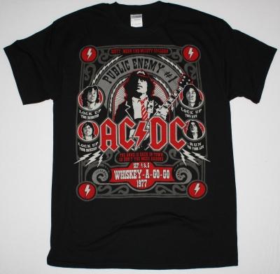 AC DC PUBLIC ENEMY AC/DC NEW BLACK T-SHIRT