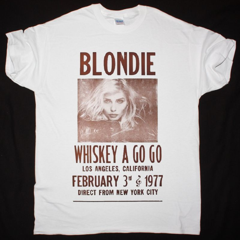 BLONDIE WHISKEY POSTER NEW WHITE T-SHIRT