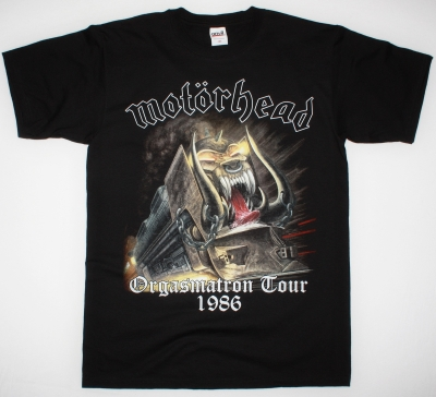 MOTORHEAD ORGASMATRON TOUR 1986 NEW BLACK T-SHIRT