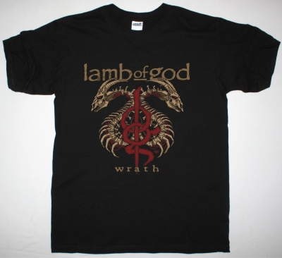 LAMB OF GOD WRATH NEW BLACK T-SHIRT