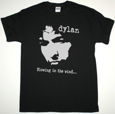 BOB DYLAN BLOWING IN THE WIND NEW BLACK T-SHIRT