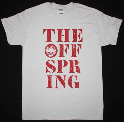 THE OFFSPRING STENCIL STACK NEW ICE GREY T-SHIRT