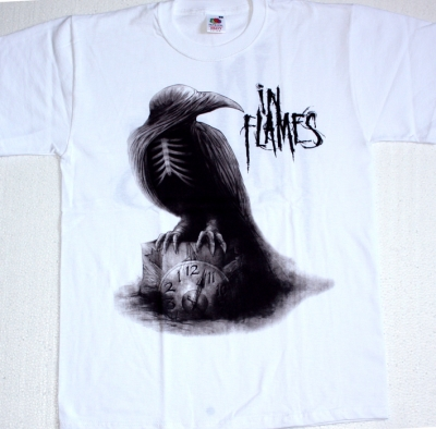 IN FLAMES SOUNDS OF A PLAYGROUND FADING 2011  NEW WHITE T-SHIRT