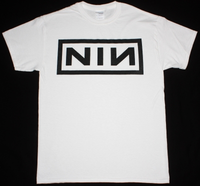NINE INCH NAILS LOGO NEW WHITE T-SHIRT